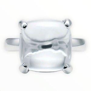 Tiffany Sugar Stack Rock Crystal Quartz Ring 6